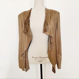 Vex Brown Faux-Suede Jacket